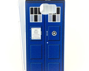 Tardis case for Samsung Galaxy S6/S7/S8 phone - inspired by Doctor Who - Blue Box Time Machine
