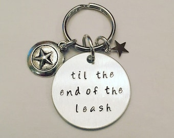 Til the End of the Leash Hand Stamped Dog/Cat Pet Tag Inspired by Captain America Winter Soldier Steve Rogers Bucky Barnes Stucky Marvel
