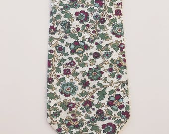 The Aviemore Tie / Wedding Tie / Groomsman Tie / Mens Cotton Tie / Floral Tie