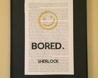 BORED - Sherlock Page Art; Sherlock Holmes