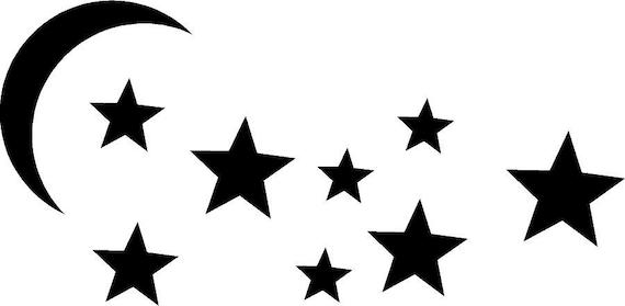 moon and stars vector clipart rh etsy com full moon and stars clipart moon and stars clipart free