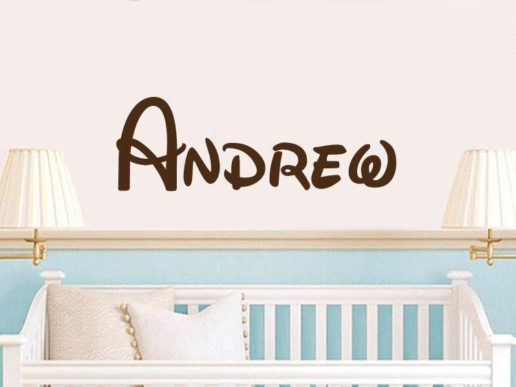Disney Name Wall Decal Mickey Vinyl Decals Sticker Custom Personalized Baby Decor Bedroom Nursery Boy Room ZX266