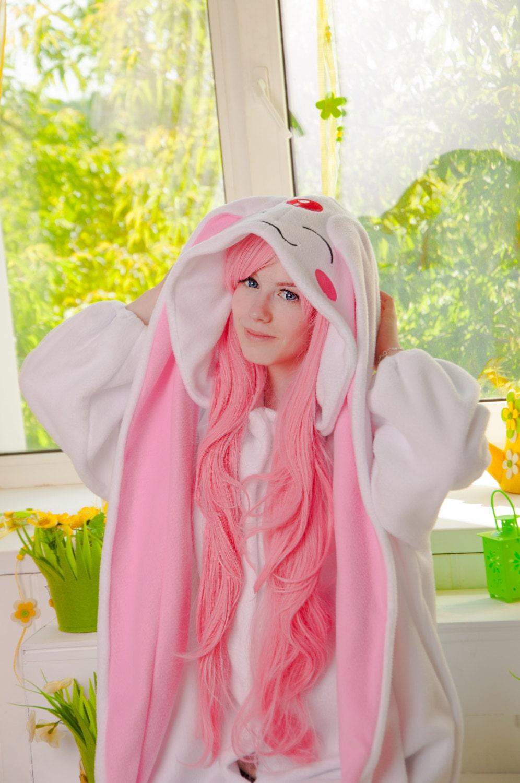White Mokona inspired kigurumi adult onesie pajama