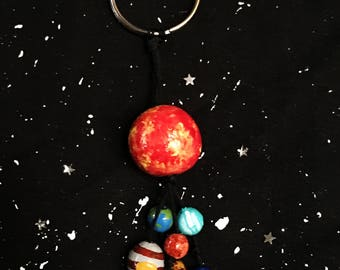 Solar System Keychain /Space Jewelry/ Astronomy Jewelry/ Cosmic Jewelry/ Planets Keychain/ Space Keychain/Astronomy /Space Gift/ Universe
