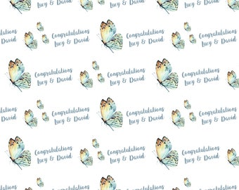 Personalized Butterfly Wrapping Paper