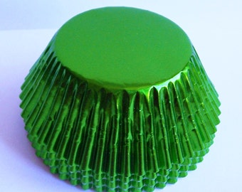 Green Foil Standard Size Cupcake Liners- Choose Set of 50 or 100