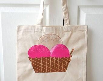 Ice cream love tote