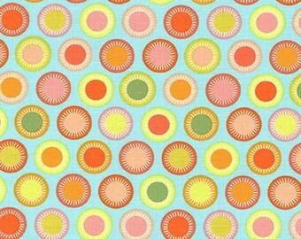 Helen's Garden by Tamara Kate for Michael Miller - Budding - Aqua - 1/2 yard cotton quilt fabric 516