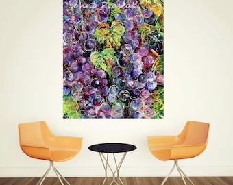Dining room art, Grapes, Wine wall art, Grapevines,  Wine room wall art, Pittsburgh wall art, Pittsburgh art,  Pittsburgh Artist Johno