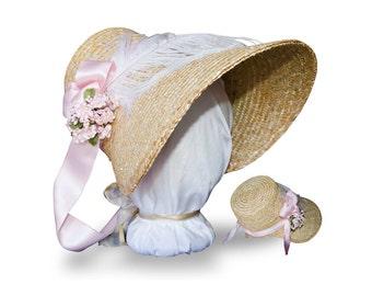 MTO- Choose Your Color! Austentation Jane Austen Regency 1812 Poke Bonnet: Eliza
