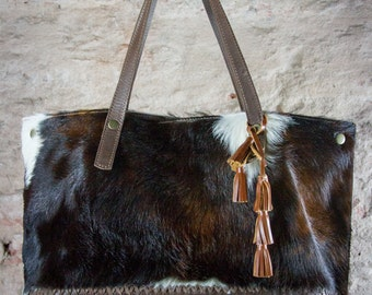 Cowhide tote large, oversized bag, oversized tote, brown leather bags, cowhide tote bag, plus size bag, oversize shoulder bag, cow hide bags
