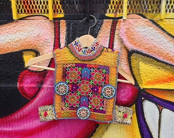 Kutchi Tribal Dress Patch / Afghan Patch / Afghan Fabric / ku-vest-patch-06