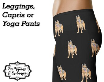 German Shepherd Leggings • German Shepherd Yoga Pants • German Shepherd Clothing  • German Shepherd Mom • GSD Mom • German Shepherd Gift