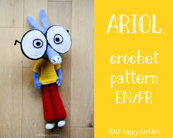 CROCHET PATTERN - Ariol - geek amigurumi