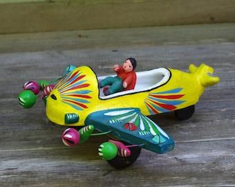 Mexican Folk Art Ortega Airplane