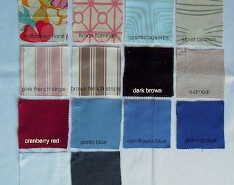6 Custom Fabric Samples by NikkiDesigns, Hemp, Organic Cotton, Linen, Tencel