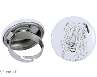 Ring with a dog- Lakeland Terrier