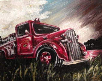 Made to Order Antique Fire Truck painting