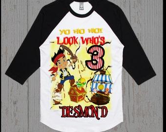 Jake Neverland Pirates Birthday Shirt - Jake and the Neverland Pirates Birthday Shirt