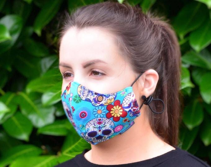 MASKERAID® Candy Skulls Reusable Cotton Face Mask