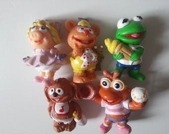 Vintage, retro, 80s, 1980s, Muppet Babies, Miss Piggy, Kermit, Fozzie, Scooter, Rowlf, choose style,  1985, NewellsJewels On etsy