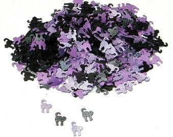 Halloween schwarz und lila strukturierte Katze Konfetti, 500 Stück