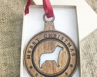 Dog Ornament - Gifts for Dog Lovers - Dog Christmas Ornaments- Pet Lover Stocking Stuffer Secret Santa Annual commemorative Ornament