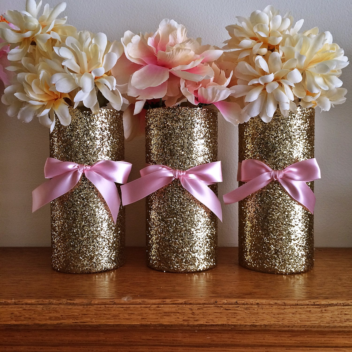 3 gold vases wedding pink and gold baby shower zoom reviewsmspy