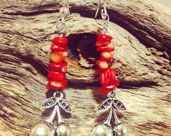 Scrumptious Red Cherry Earrings