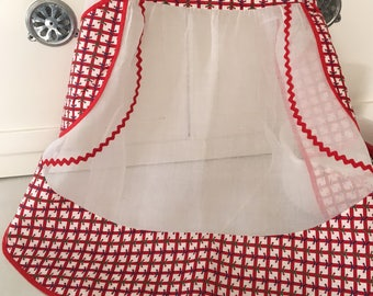 Vintage Apron, Vintage Holiday Apron, Holiday Hostess, Holiday Hostess Gift