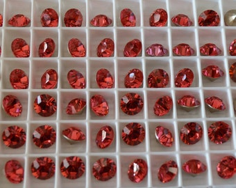 6 Indian Pink 8mm SWAROVSKI ELEMENTS crystal 1088 ss39 Chatons