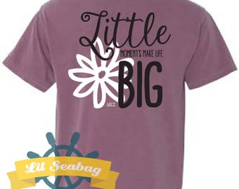 Sorority Sister Shirt, Big Little Grand, Greek shirt, Big Little Reveal, Little Moments Make Life Big, Comfort Color