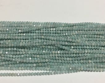 Amazing finest quality natural micro faceted beads ,larimar faceted beads,most reasonable,highest quality