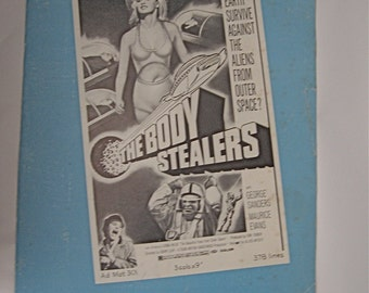 The Body Stealers    1970 Allied Artists Campaign Book   Can Earth Survive Against the Aliens  from Outer Space ?