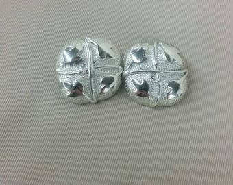 Coro square leaf clip on earrings