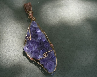 Amethyst Pendant protection, purification and Divine connection, release of addictions 4365