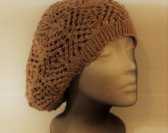 Diamond Mesh Lace Hat Knitting Pattern