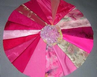 20 PCS Precious Pink Crazy Quilt Fabrics for Crazy Quilts, Art Quilts & Art projects