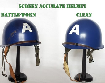 Adult Captain America Helmets - Screen Accurate WWII Style - Clean or Battle-Worn