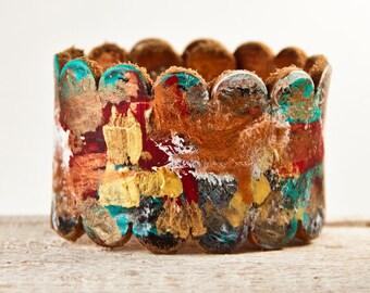 Boho Jewelry Leather Cuff Bracelet, Gypsy Jewelry, Leather Jewelry, Leather Wrist Cuffs Unique Presents