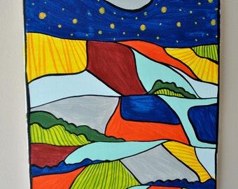 Nightime Landscape stars