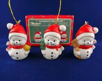 House of Lloyd Christmas Around the World Ceramic Snowmen Ornaments