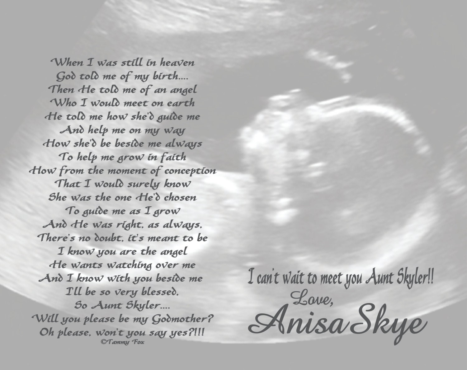 Will You Be My Godmother/Godfather/Godparents Poem from Unborn