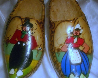 Holland Wooden Shoes Wall Hanging