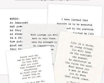 Typewriter custom poem print, literary gift, custom quote