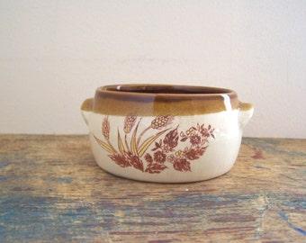 Vintage stoneware soup bowl