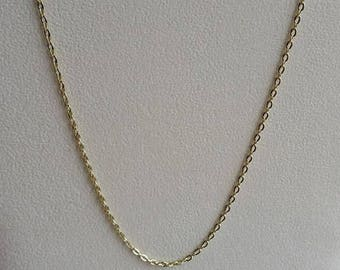 """Gold Plated Necklace, Gold Plated Chain, Gold Necklace, Gold Chain, 16 inch Gold, 16"""" Gold, 16"""" Necklace, 16"""" Chain, Gold Link Chain,"""