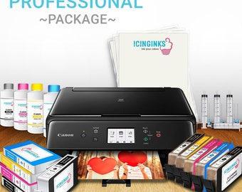 Edible Printer System Profesional Package - Comes with Edible Cartridges, Icing Sheets, Edible Cleaning Cartridges, Refill Inks By Icinginks