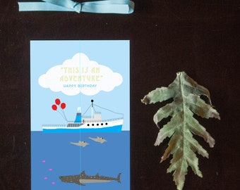 The Life Aquatic - Steve Zissou - Birthday Card - Wes Anderson Birthday