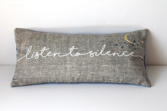 "Cushion for yoga and meditation ""Listen to silence"""
